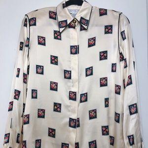 STARINGTON blouses by Charlotte,Vintage 100% Silk